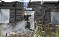 Sudegė medinis namas