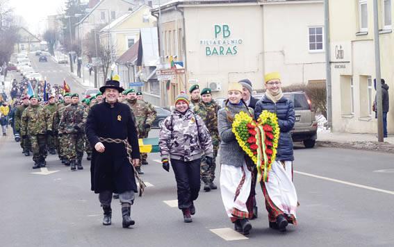 Ukmergiškiai sveikino atkurtos valstybės 100-metį