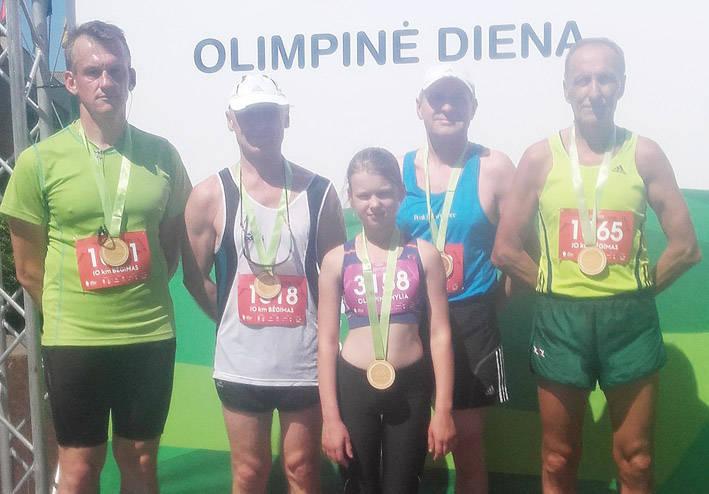Dalyvavo Olimpinės dienos šventėje