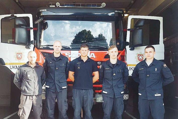 Stipriausio ugniagesio gelbėtojo varžybose – ir ukmergiškiai