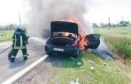 Automobilis sudegė nepataisomai
