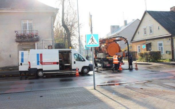 Vanduo užliejo Vytauto gatvę