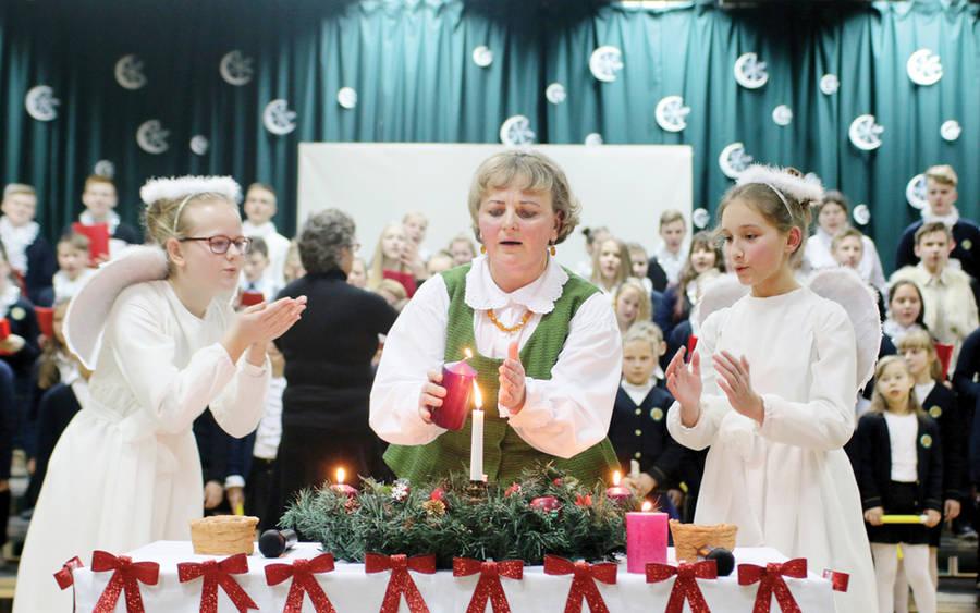 Senamiesčio mokykloje – Šviesos šventė