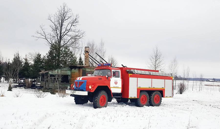 Gaisravietėje dar kartą įsiplieskė ugnis